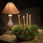 Adventgesteck mit Kerzen