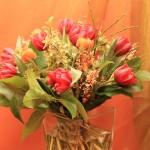 rotes Tulpenbukett